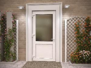 пластиковая входная дверь